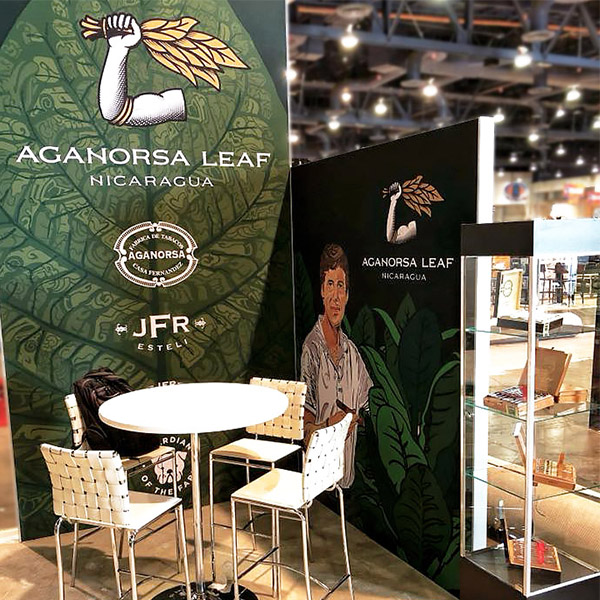 aganorsa leaf trade show booth