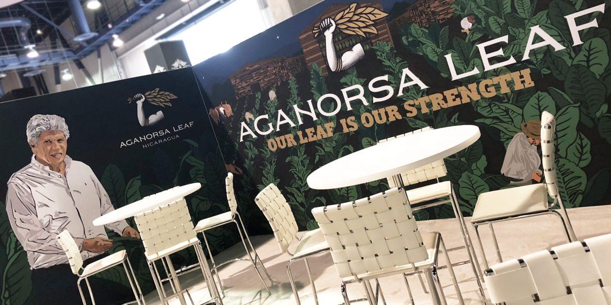 aganorsa leaf custom 20x40 trade show display