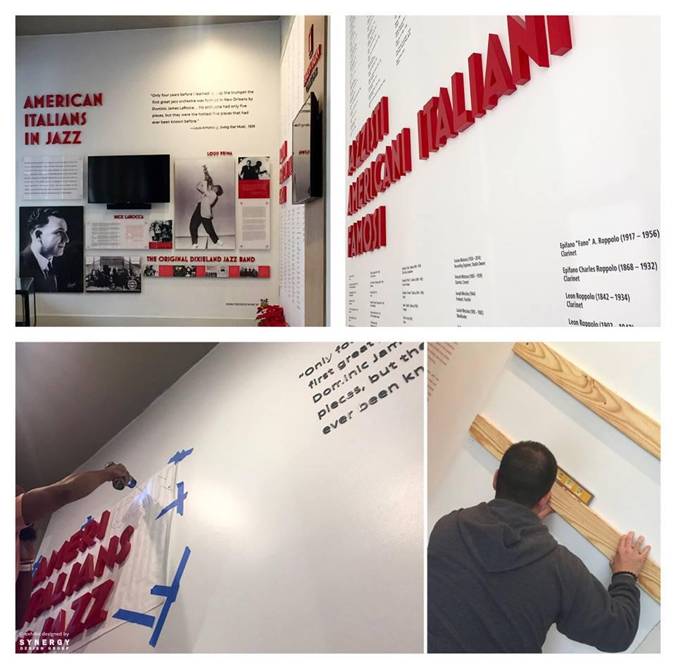 museum exhibition installation