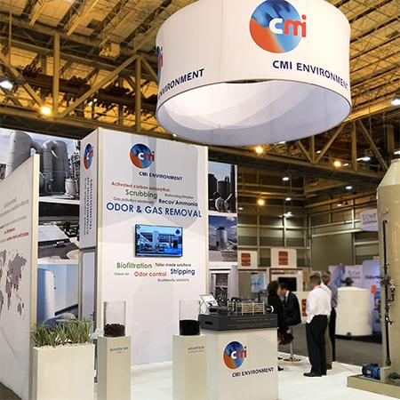 cmi environment island trade show display