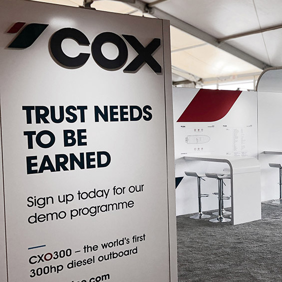 cox custom trade show booth