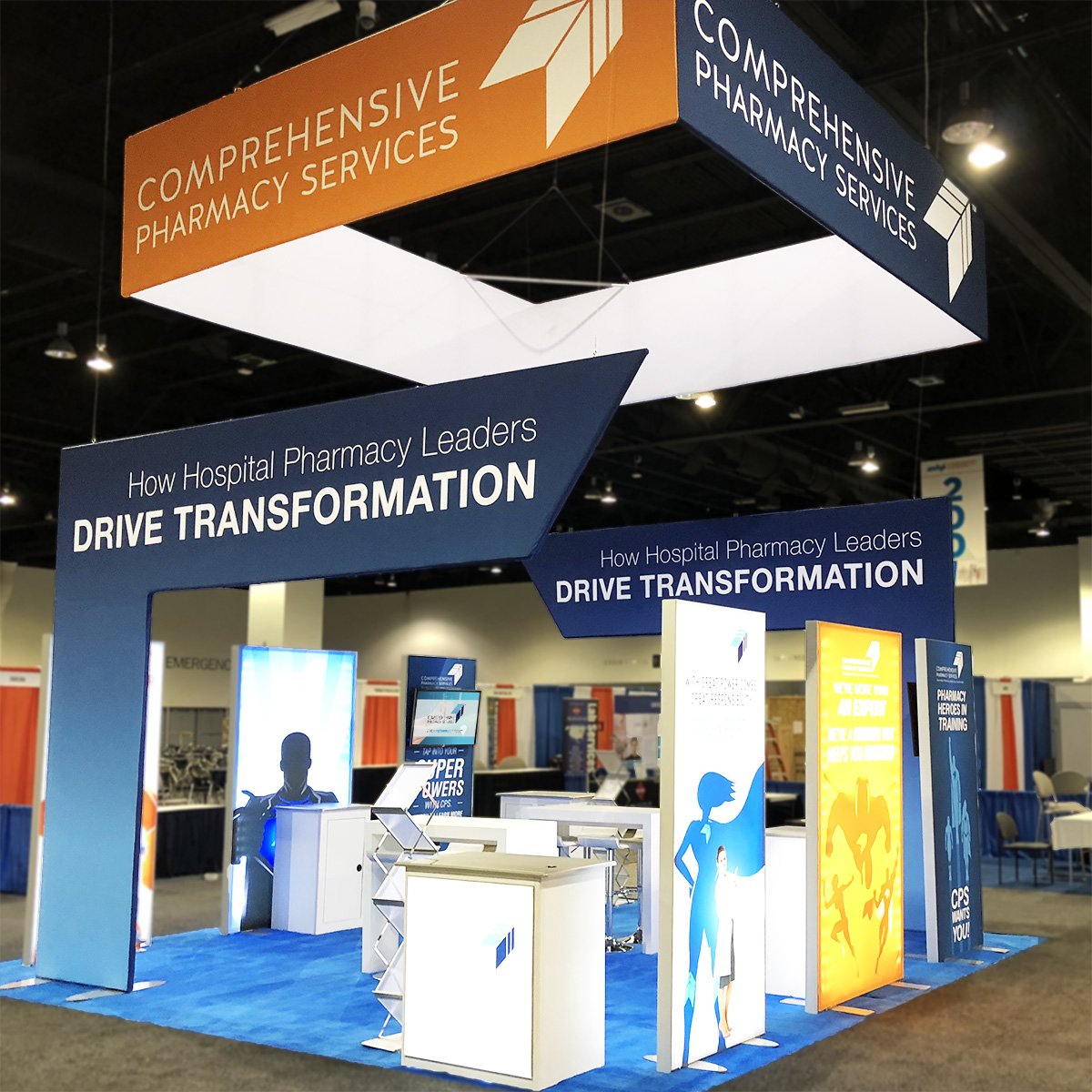 comprehensive pharmacy services trade show exhibit