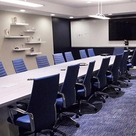 comprehensive pharmacy services conference room branded interior