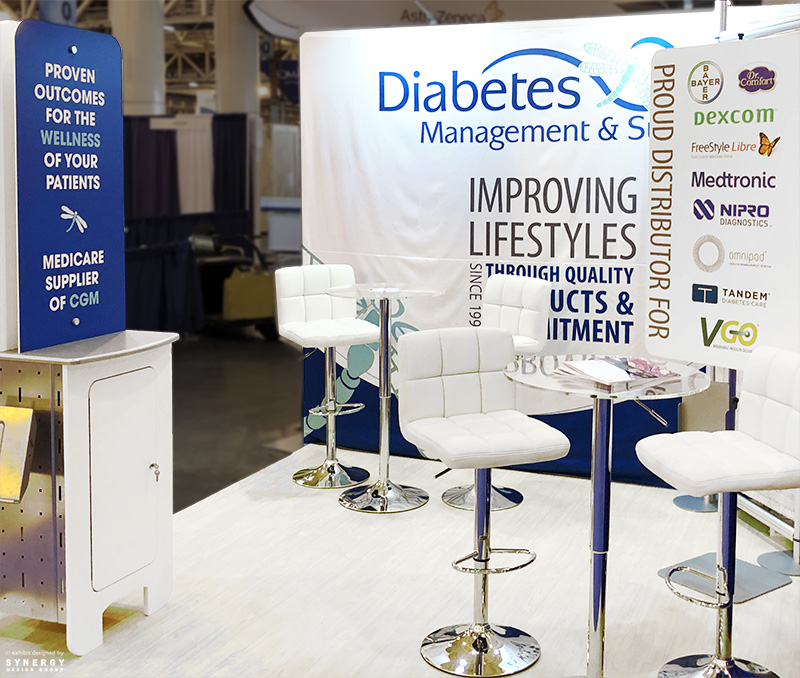 diabetes management and supplies 10x10 booth