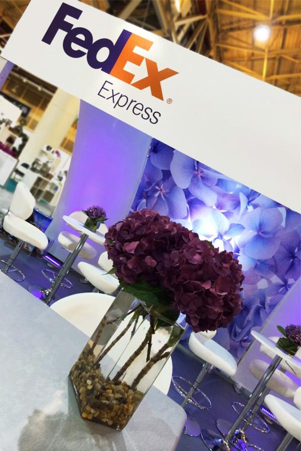 fedex custom exhibit design display rental trade show booth