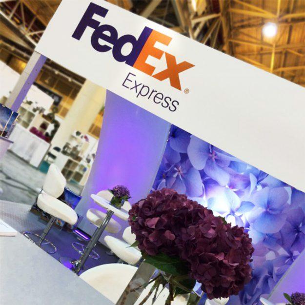 fedex custom rental exhibit design display trade show booth