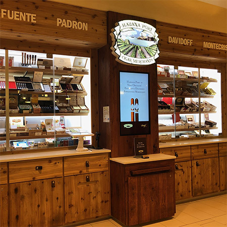 habana port custom humidor retail kiosk