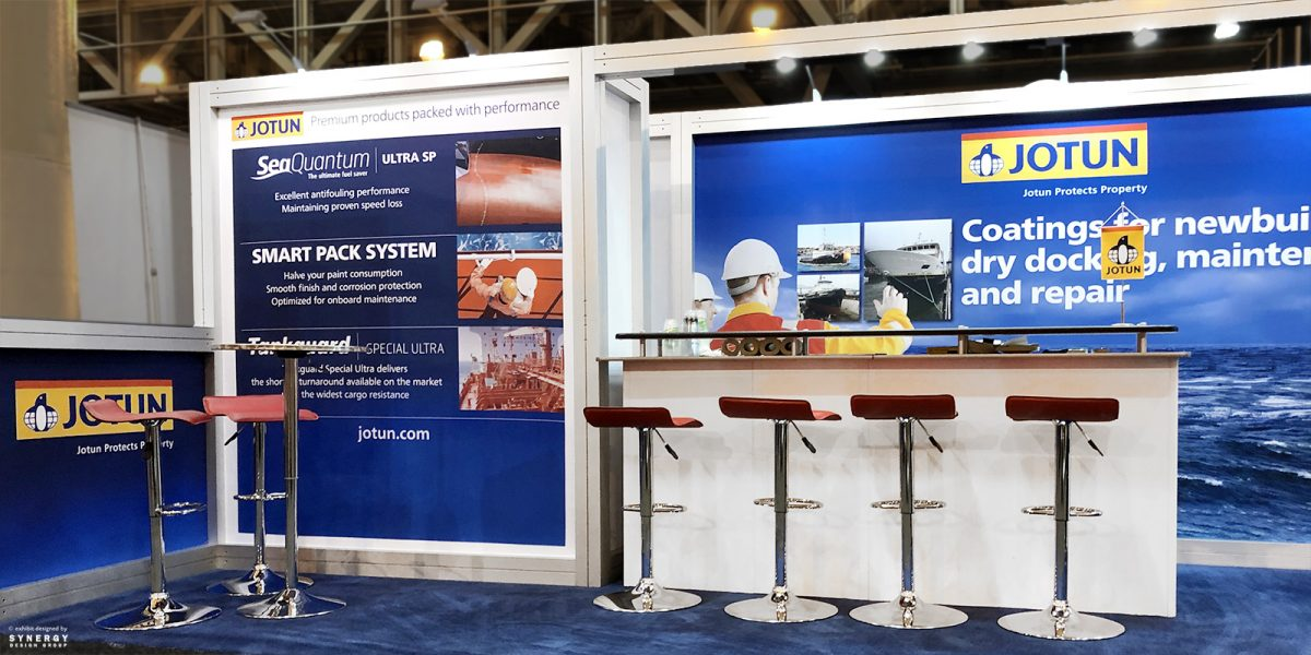 10x20 jotun inline trade show booth