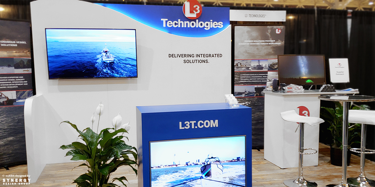 l3 technologies inline trade show booth