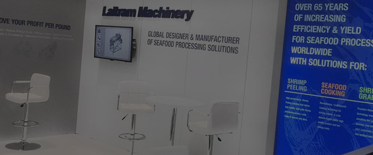 laitram machinery exhibit booth design display ideas trade show synergy design group