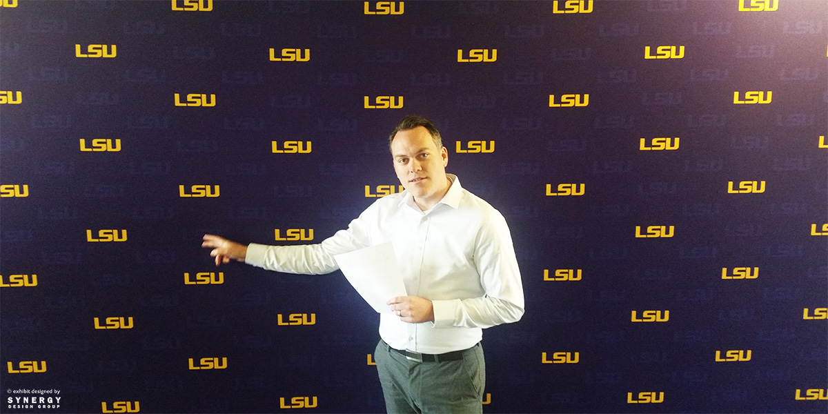 lsu step and repeat backdrop