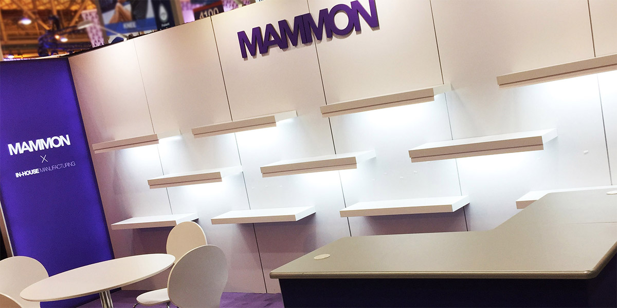 mammon custom retail trade show display