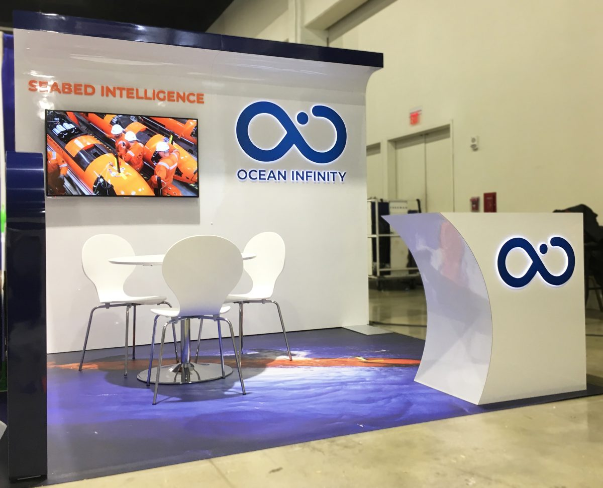 ocean infinity custom 10-foot trade show booth