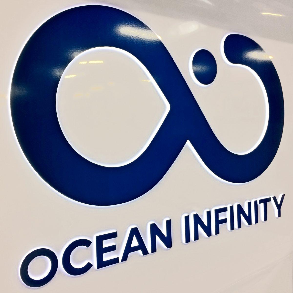 ocean infinity custom glowing signage
