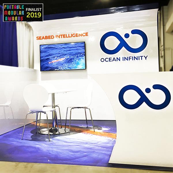 custom 10x10 ocean infinity portable modular awards finalist