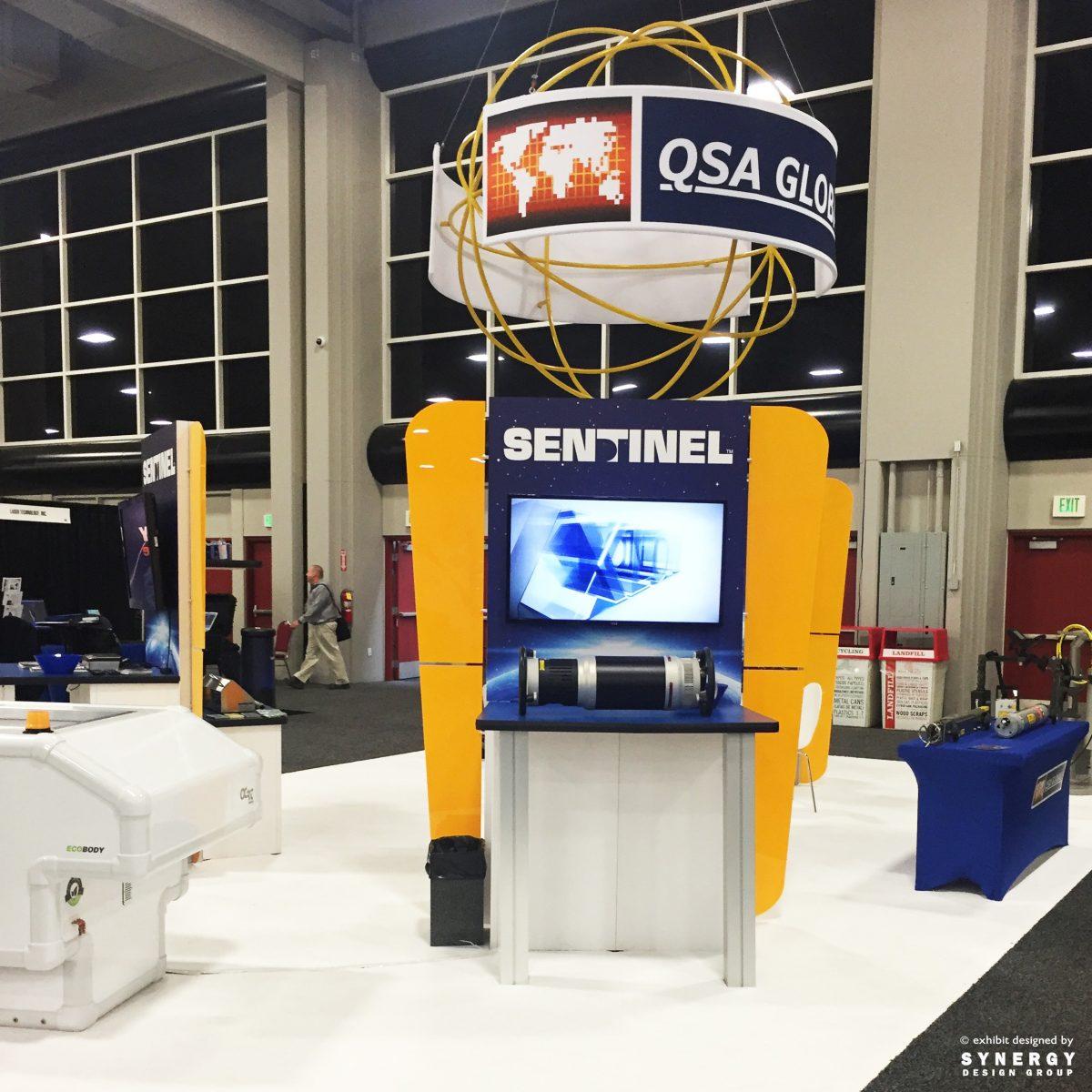 qsa custom trade show kiosk