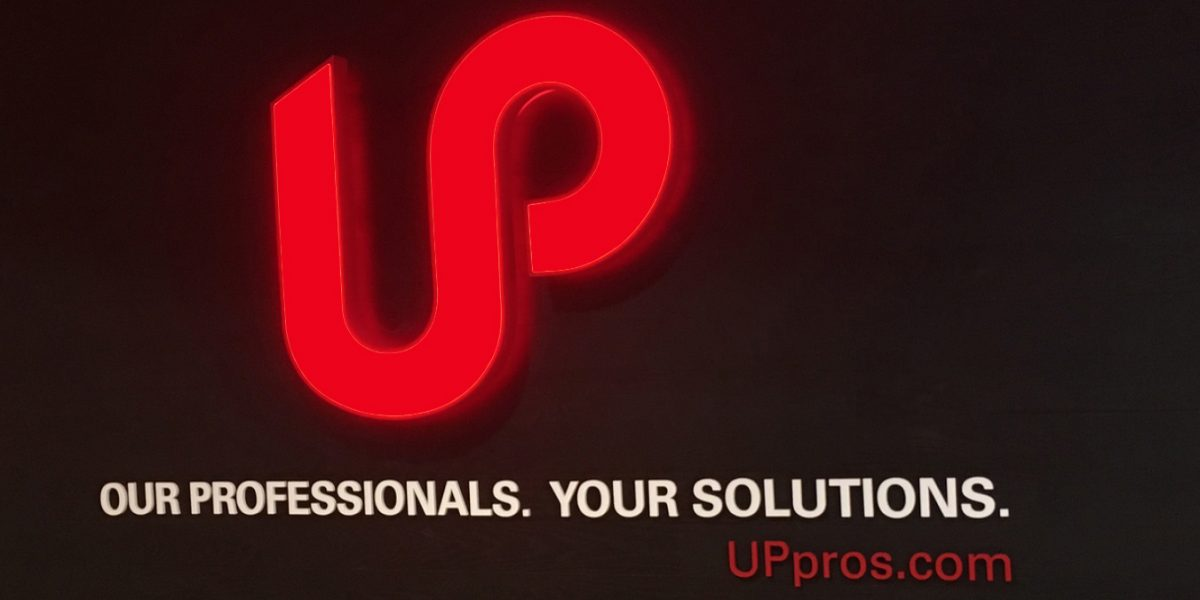 up professional solutions branded interior custom 3d signage