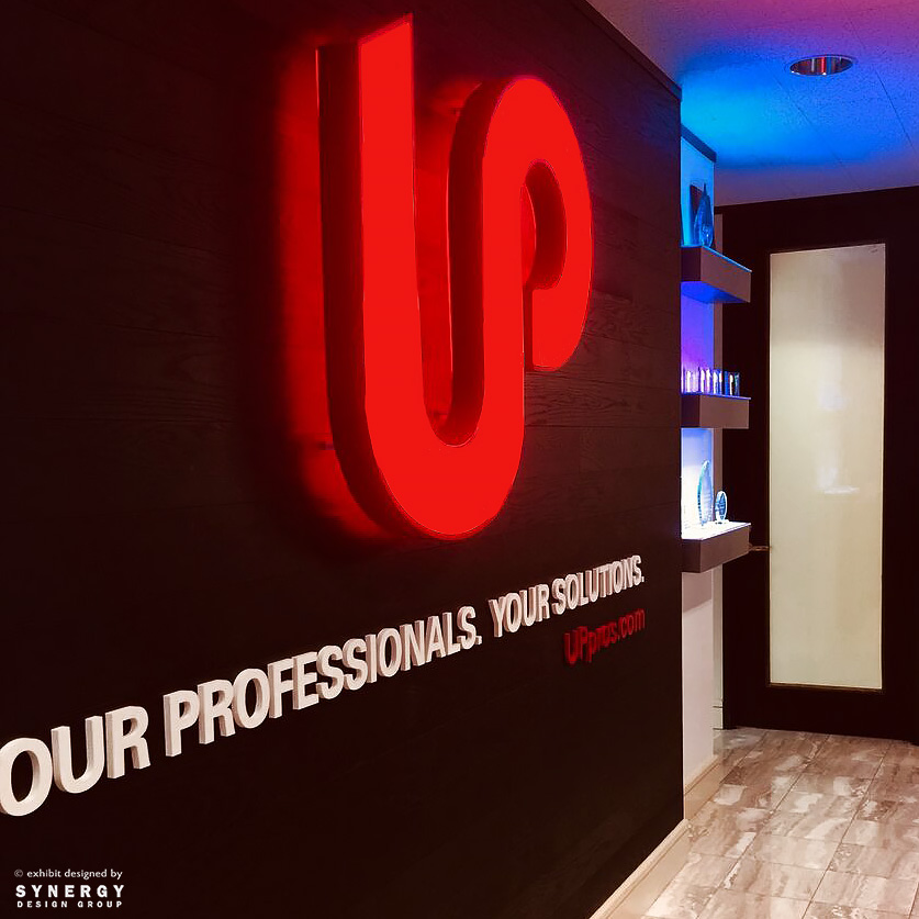 up professional solutions branded interior award wall