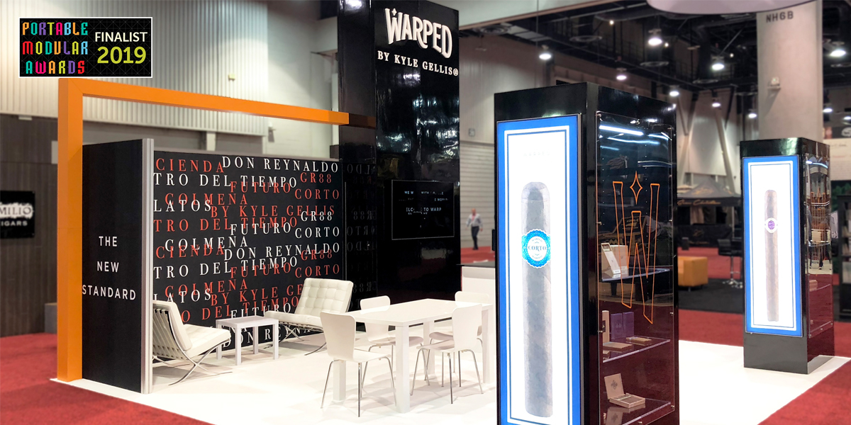 warped custom trade show display exhibit design